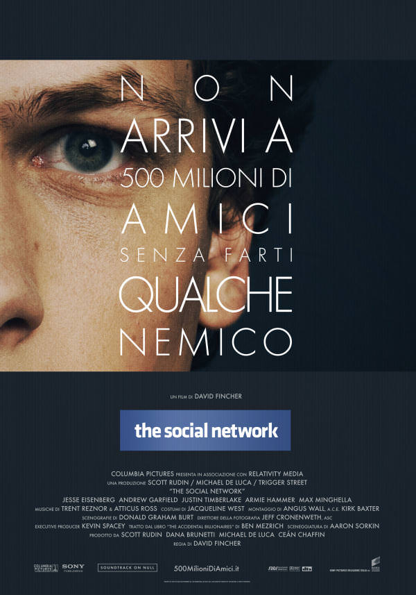 Film sulla nascita di Facebook, The social network